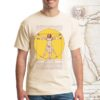 DaVinci T Shirt, natural cotton color with Vitruvian Man design.